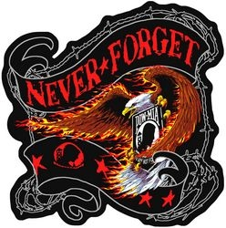 "POW/MIA Never Forget Back Patches (12"")"