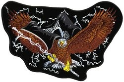 "POW/MIA Eagle Back Patches (11"")"