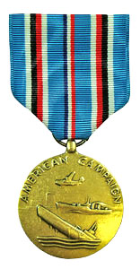 American Campaign Full Size Medals
