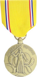 American Defense Service Full Size Medals