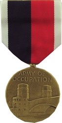 Army of Occupation WW II Full Size Medals