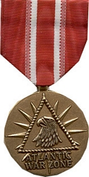 Atlantic War Zone Merchant Marine Full Size Medals