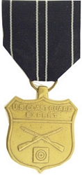 US Coast Guard Expert Rifle Full Size Medals