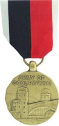 US Navy Occupation Service, WWII Full Size Medals
