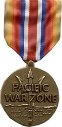 Pacific War Zone, Merchant Marine Full Size Medals