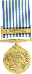 United Nations Service, Korea Full Size Medals