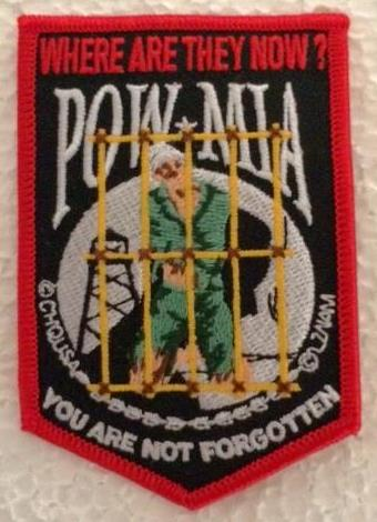 POW/MIA WHERE ARE THEY NOW patches