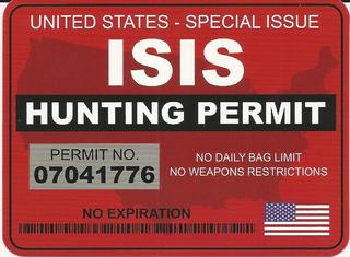 ISIS Hunting Permit Stickers