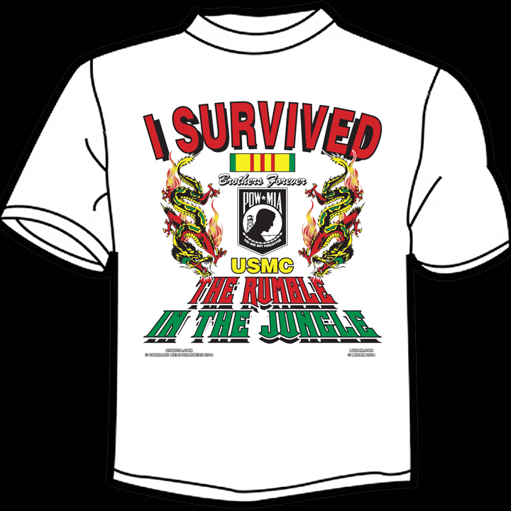 I Survived The Rumble In the Jungle T-shirt (click here)
