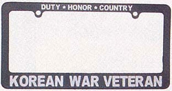 Korean War Veteran License Plate Frames