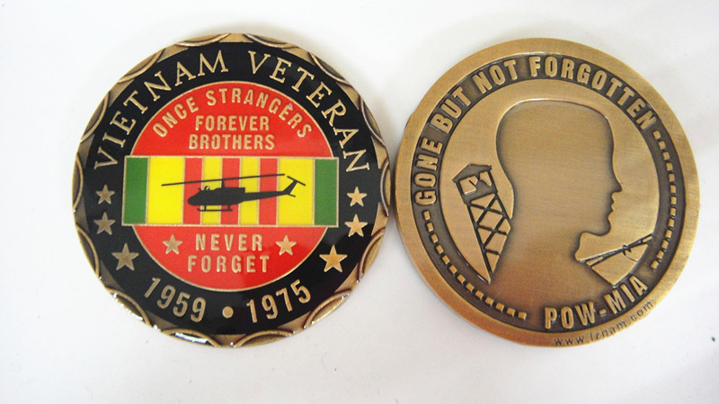 Vietnam Veteran Once Strangers Forever Brothers Challenge Coins