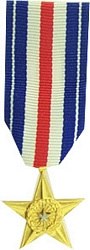 Silver Star Mini Medals