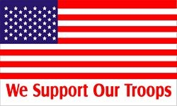 We Support Our Troops Flags