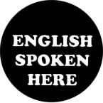 English Spoken Here Stickers