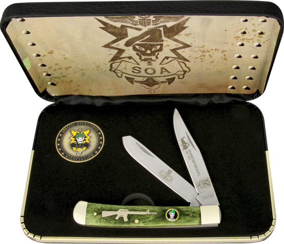 Special Edition Green Trapper Pocket Knife & Coin Box Set