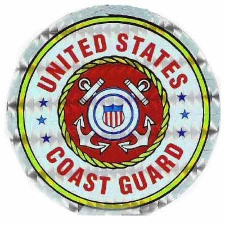 Holographic Military Decals US Coast Guard