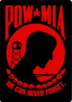 POW/MIA (We Can Never Forget)  Stickers