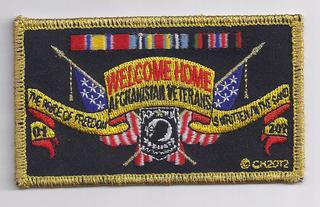 Welcome Home Afghanistan Veterans Patches