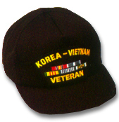 Korea Vietnam Veteran Military Ball Caps