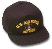US Air Force Retired Military Ball Caps