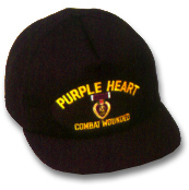 Purple Heart Military Ball Caps