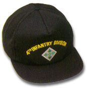 4th Infantry Division Military Ball Caps