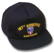 187th Airborne Military Ball Caps