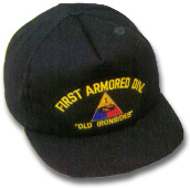 First Armored Division Military Ball Caps