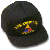 Third Armored Division Military Ball Caps