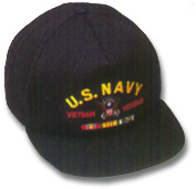 US Navy Vietnam Veteran Military Ball Caps