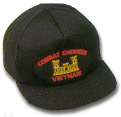 Combat Engineer Vietnam Veteran Military Ball Caps
