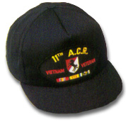11th Armored Cavalry Regiment Vietnam Veteran Military Ball Caps
