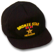 Bronze Star Military Ball Caps