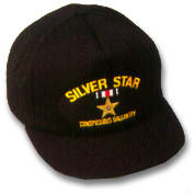 Silver Star Military Ball Caps