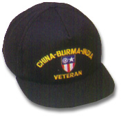 China-Burma-India Veteran Military Ball Caps