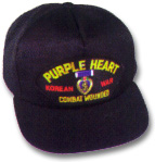 Purple Heart Korean War Military Ball Caps
