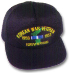 Korean War Veteran Military Ball Caps