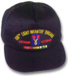 196th Light Infantry Brigade Vietnam Veteran Military Ball Caps