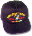 Army Security Agency Vietnam Veteran Military Ball Caps