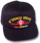 18th Engineer Brigade Vietnam Veteran Military Ball Caps