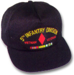 5th Infantry Division Vietnam Veteran Military Ball Caps