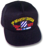 3rd Infantry Division Korea Veteran Military Ball Caps