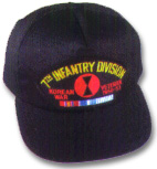 7th Infantry Division Korea Veteran Military Ball Caps
