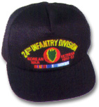 24th Infantry Division Korea Veteran Military Ball Caps