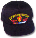 25th Infantry Division Korea Veteran Military Ball Caps