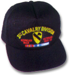 1st Cavalry Division Korean Veteran Military Ball Caps