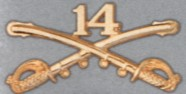 14th Cavalry Hat Pins