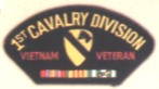 1st Cavalry Division Vietnam Veteran Patches
