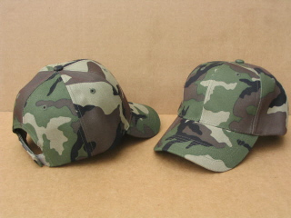 Woodland Camouflage Ball Caps