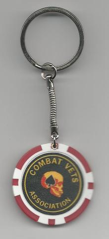 Combat Vets Association Poker Chip Key Rings